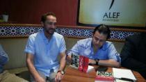 الفنان نصير شمة في حفل توقيع كتاب الصحافة الحرام