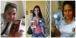 Algunas lectoras con la novela en formato papel