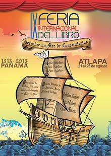 Cartel de la IX Feria del Libro de Panamá 2013