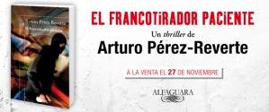 Banner de la nueva novela de Arturo Pérez-Reverte