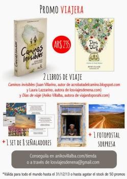 """Combo navideños, libro de los Acróbatas del Camino + """"Días de viaje"""" libro de la argentina Aniko Villalba @viajandoporahi"""