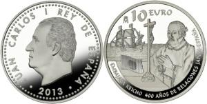 Moneda conmemorativa de la 1ª Embajada Japonesa a España