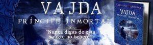 Banner promocional de su segunda novela 'Vadja, el príncipe inmortal'