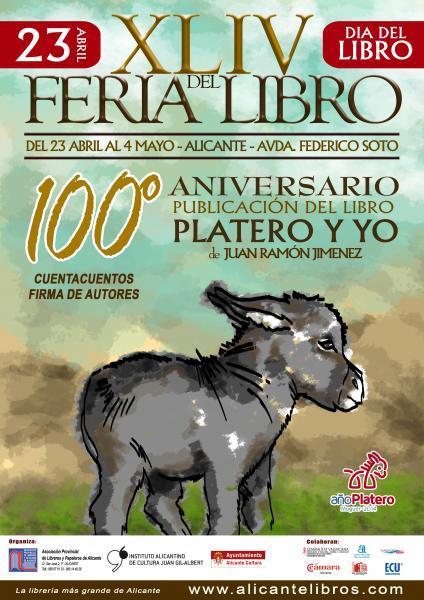Cartel Promocional de la Feria del Libro Alicante 2014