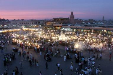 Plaza Jamaa el Fna, centro neurálgico de Marrakech