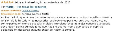 Comentario original publicado en Amazon