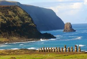 Los descomunales 'moai'