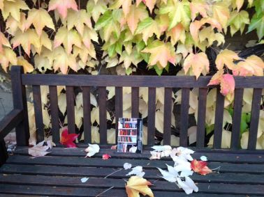 Foto de Brigitte Erath-Book en un rincón del bello jardín de su casa, inspirada en el libro de Fernando Gessa