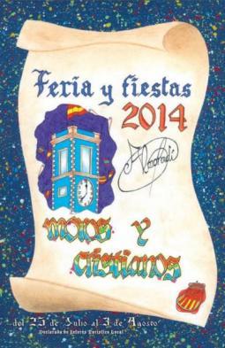 Cartel/Portada del Libro de Feria y Fiestas de Moros y Cristianos 2014 de Almoradí