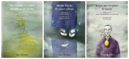 Las primeras obras que forman parte del catálogo. Muy pronto disponible el libro de Kajii Motojirō.
