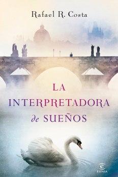 Portada de la novela con Editorial Espasa