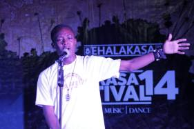 The poet was doing spoken word poetry