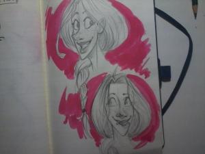 Dibujo de la autora