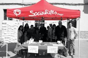 La agrupación pegolina del PSOE en un acto de precampaña