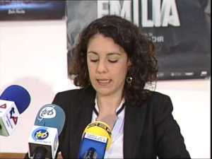 Isabel Martínez durante la presentación de un acto/ Vega Baja tv