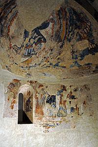 Murales del ábside lateral Museu Nacional d'Art de Catalunya
